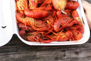 crawfish served